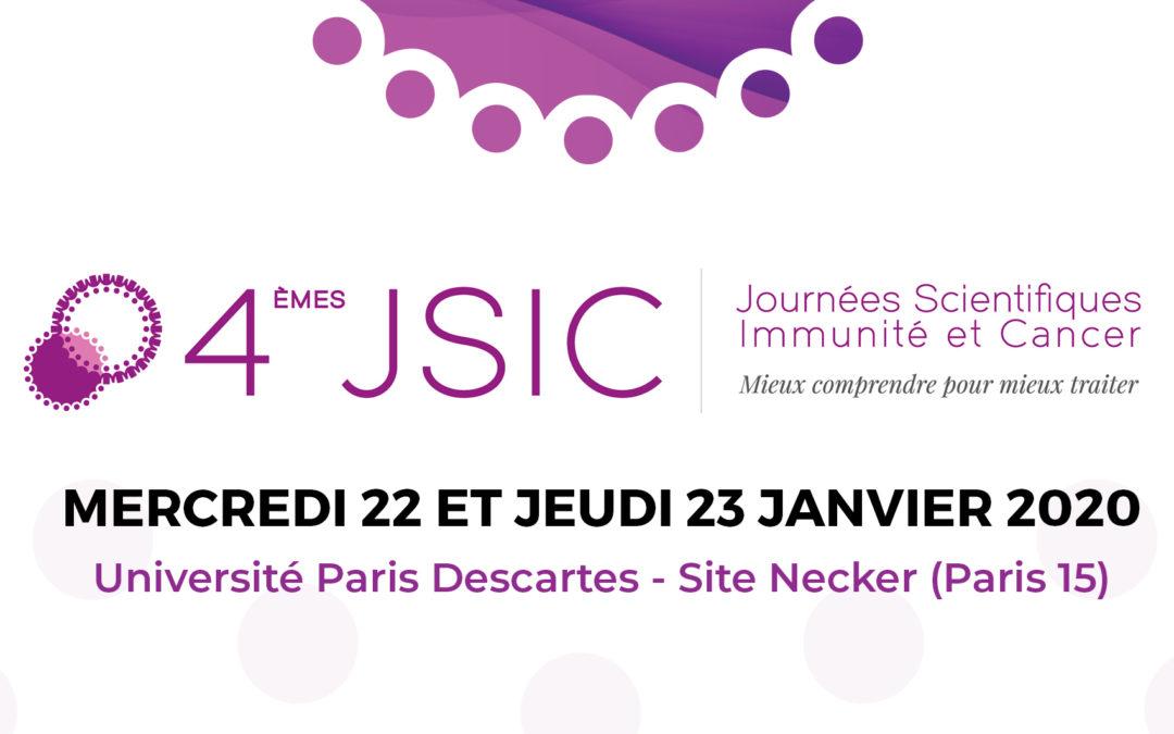 4èmes Journées Scientifiques Immunité et Cancer